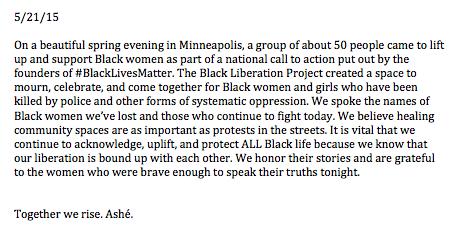 BLP BlackWomenMatter Rally