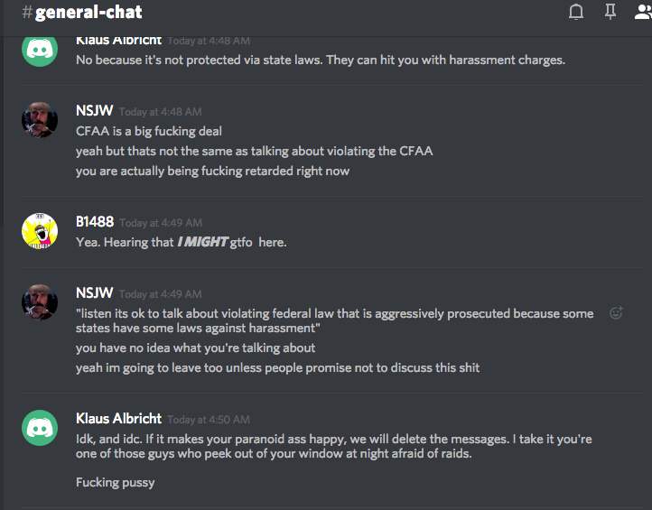 DATA RELEASE: Neo-Nazis Plan Revenge in New Discord Server After