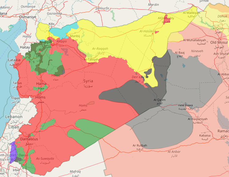 October 24, 2017 map of control in Syria
