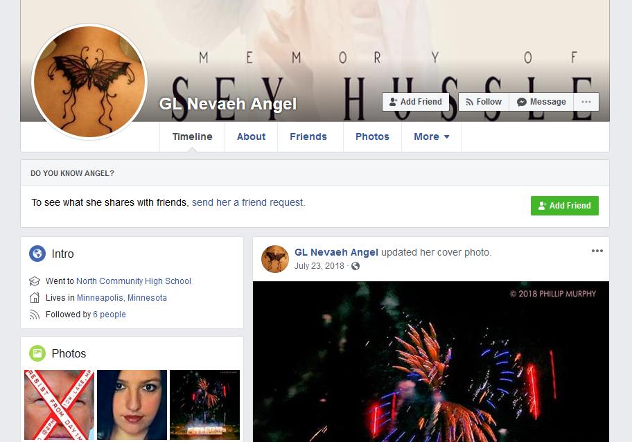 Angel's Facebook