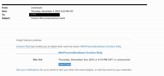 Livestream Notification