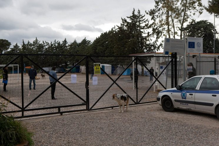 Refugee Camp Malakasa has undergone quarantines where the camp is fenced in because of COVID-19