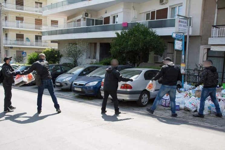 Anarchist Collective Rouvikonas delivers tons of groceries to nursing home in Athens during coronavirus pandemic