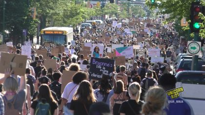 Thousands march down Lake St in Minneapolis for Breonna Taylor
