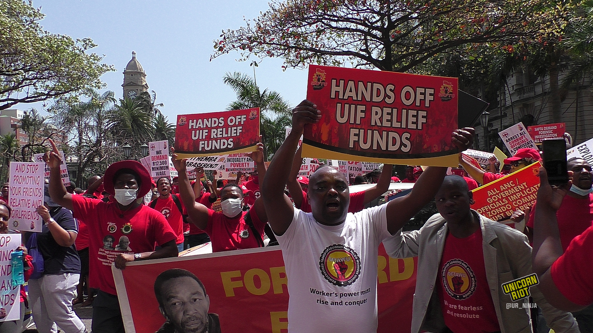 South African Unions Form Alliance Against Government